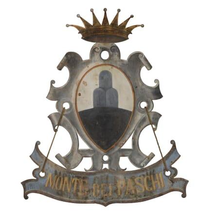 Italian 19th Century Metal Sign WD0259335