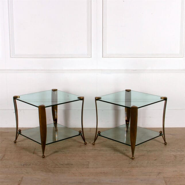 Pair of Bronze Two Tier Tables CO307535