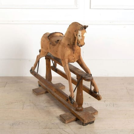 19th Century Carved Wooden Rocking Horse DA6061330