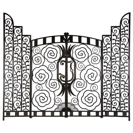 Superb pair of French Art Deco gates OF018062