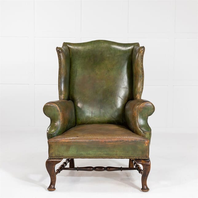 Early 19th Century English Leather Wing Armchair CH0662410