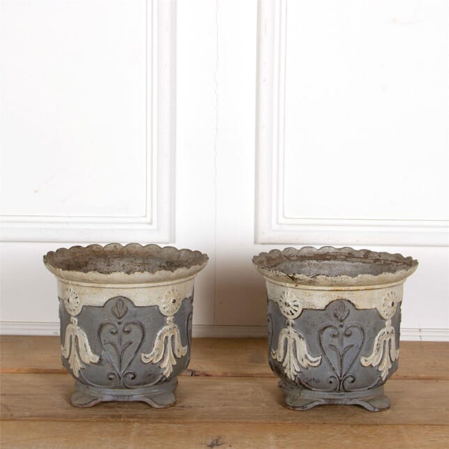 Pair Of Cast Iron Planters GA287316