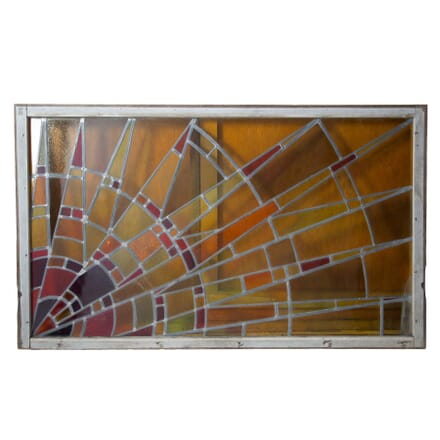 20th Century Stain Glass Panel WD4855222