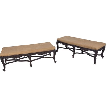Pair of Long Antique Stools ST7260191