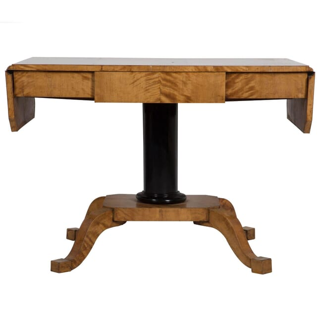 19th Century Biedermeier Satin Birch Sofa Table TS133314
