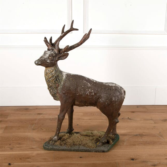 French Compostite Stone Stag GA3761797
