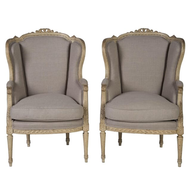 Pair of Louis XVI Revival Bergeres CH1753759