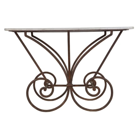 French Patisserie Cast Iron Table TS234305