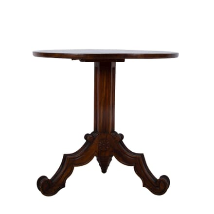 French Gothic Tilt-Top Mahogany Lamp Table TC2860818