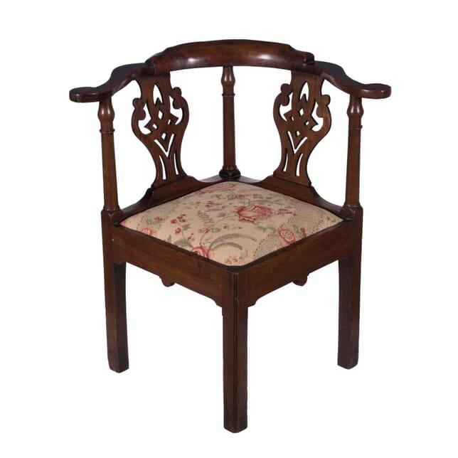 Georgian Mahogany Corner Chair CH3759119