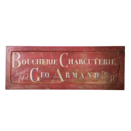 20th Century Charcuterie Sign WD2057921