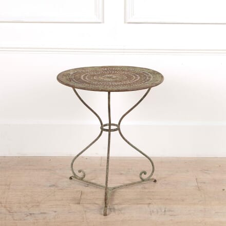 Small 19th Century French Round Iron Café Table TS4461515