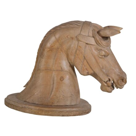 Large 19th Century Carved Horses Head DA037304