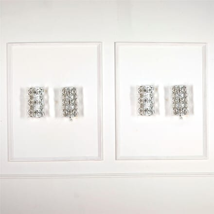 Set of Four Cut Glass Sconces LW537253