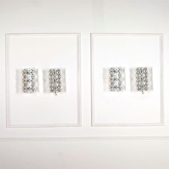 Set of Four Cut Glass Sconces LW537253