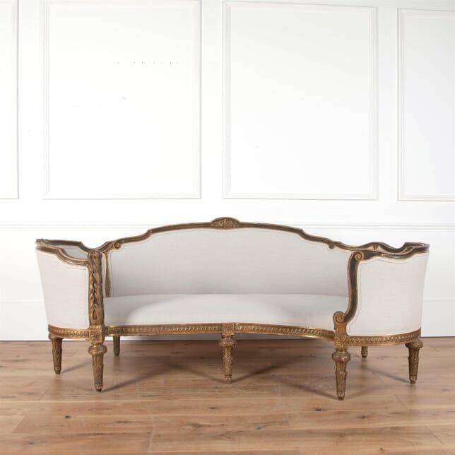 Rare 18th Century French Corbeille Sofa SB5861545