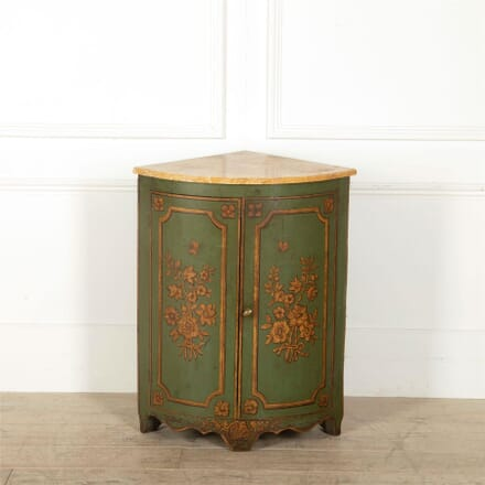 Italian Painted Corner Cupboard BU157033