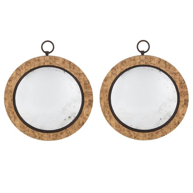 Pollard Oak Convex Mirrors MI107124
