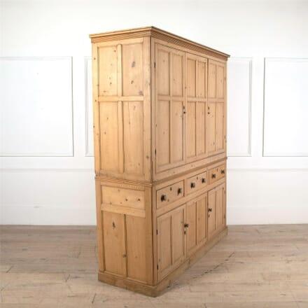 Regency 19th Century Pine Housekeepers Cupboard CU0961987