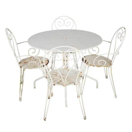 French Steel Garden Table Chairs GA4512128