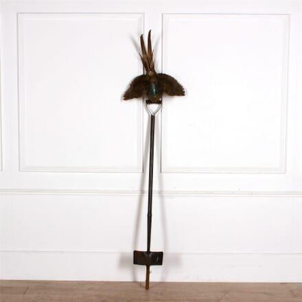 Contemporary Pheasant On A Spade Sculpture GA287286