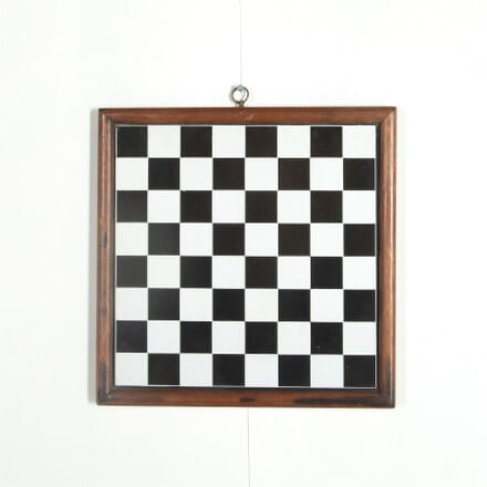 Tin, wood framed Chequer Board WD287581