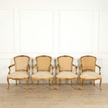 Set of Four Louis XV Revival Armchairs CH157698
