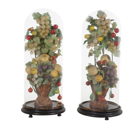 Pair of Glass Domes DA7360595