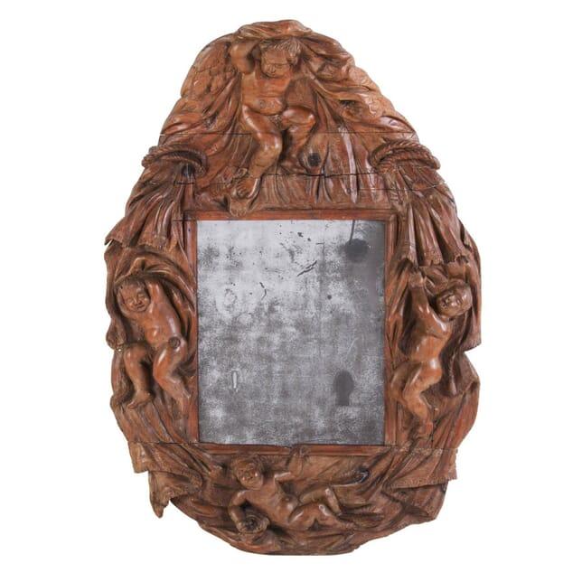18th Century Carved Italian Mirror MI037347