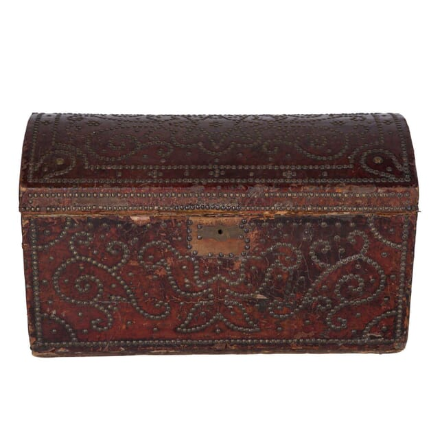 Decorative French Leather Studded Box DA6060470