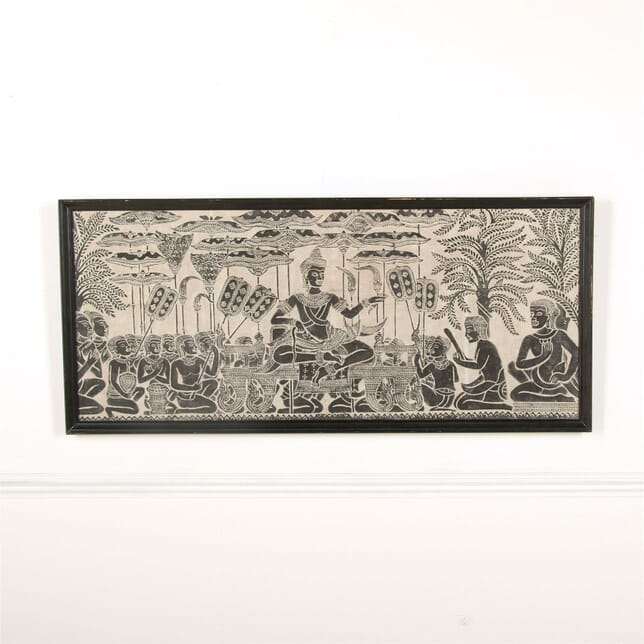 Hand Blocked Asian Ceremonial Scene WD907677