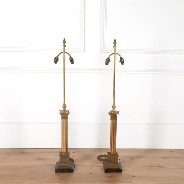 Tall Brass and Marble Lamps LT4561533