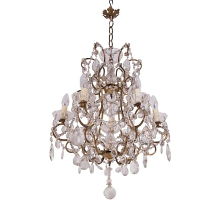Italian Gilt Bronze and Cut Glass Chandelier LC2859600