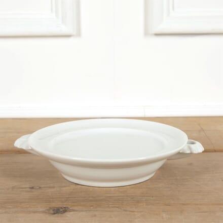 White French Porcelain Warming Plate DA4461547
