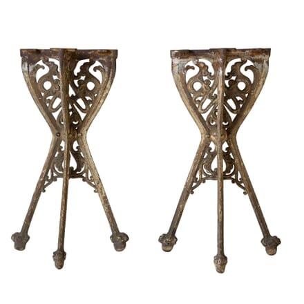 Pair of Unusual Cast Iron Consoles CO5258898