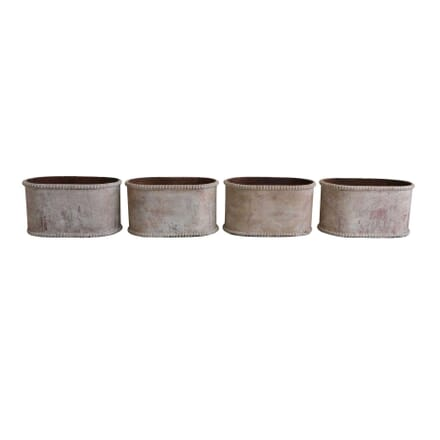 Set of 4 Cast Iron Planters GA1255801