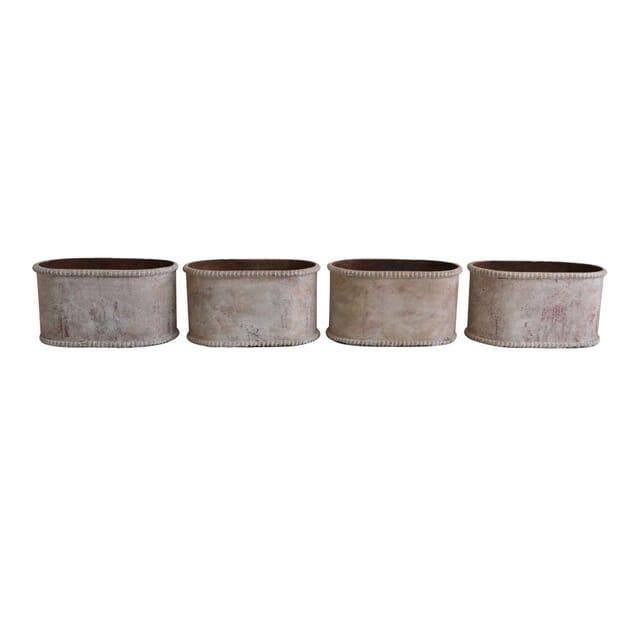 Set of 4 Cast Iron Planters GA1255801