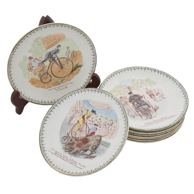 12 Bicycle Theme Plates DA156396