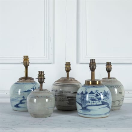 Century Ginger Jars Converted to Lamps LT2560981