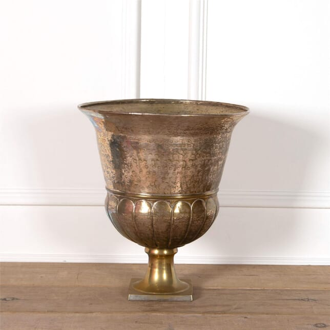 Silver Plated Hammered Urn DA2962213