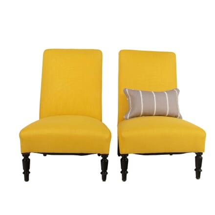 Pair of French Chauffeuse Chairs CH6360750