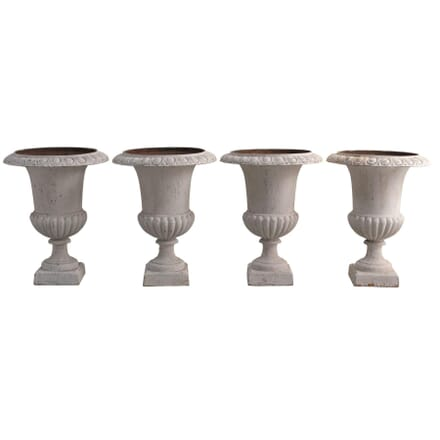 Set of 4 French Cast Iron Urns GA1255196