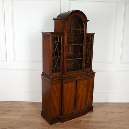 19th Century Breakfront Mahogany Cabinet CU4762169
