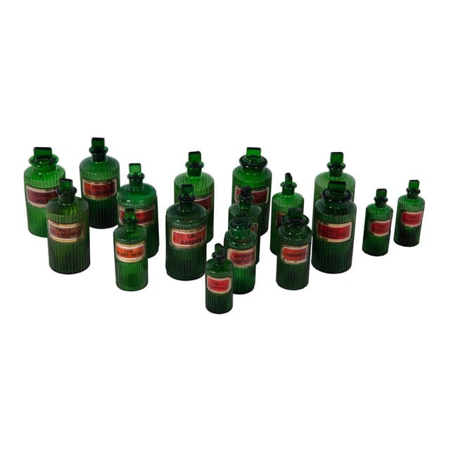 Collection of English Apothecary Bottles DA3554100