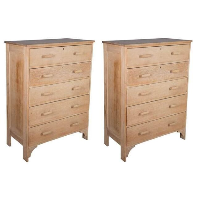Pair of 1930s Oak Chest of Drawers CC4810991
