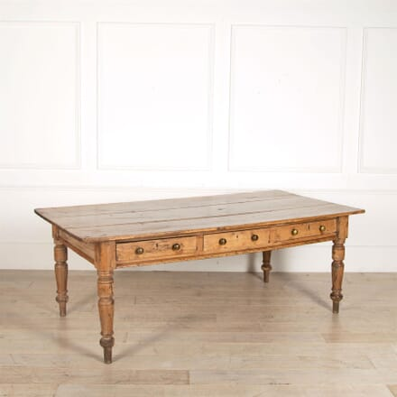 A 19th Century Wiltshire Pine Farmhouse Refectory Table TD057167