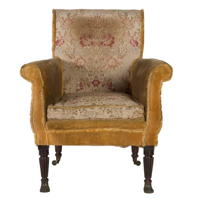 Regency Mahogany Oversized Library Chair CH0358613
