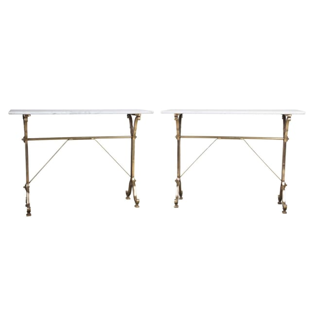 Pair of Brassed Bistro Tables TS1555623