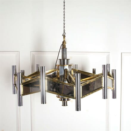 1970's Sciolari Mirrored Chandelier LC537246