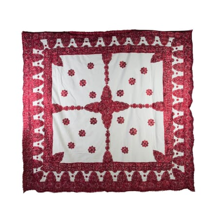 Moroccan Silk Embroidered Throw RT0153923